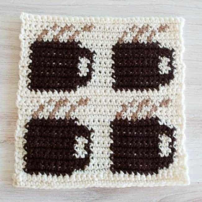 coffee mug crochet square